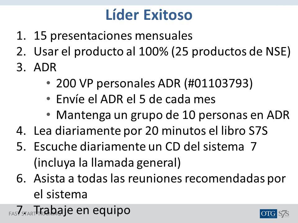Líder Exitoso 15 presentaciones mensuales