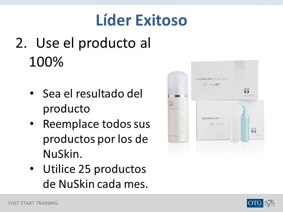 Líder Exitoso Use el producto al 100% Sea el resultado del producto