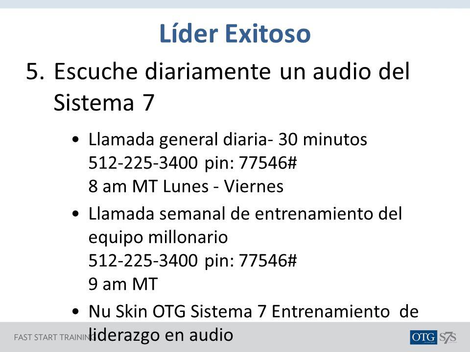 Líder Exitoso Escuche diariamente un audio del Sistema 7