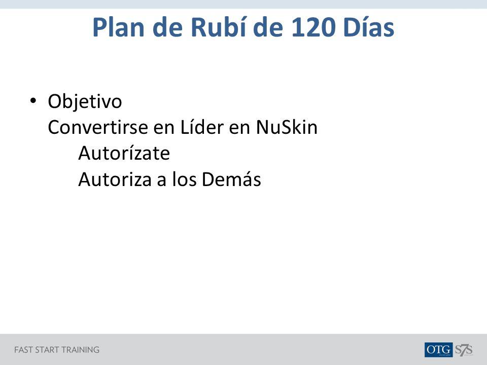 Plan de Rubí de 120 Días Objetivo Convertirse en Líder en NuSkin Autorízate Autoriza a los Demás