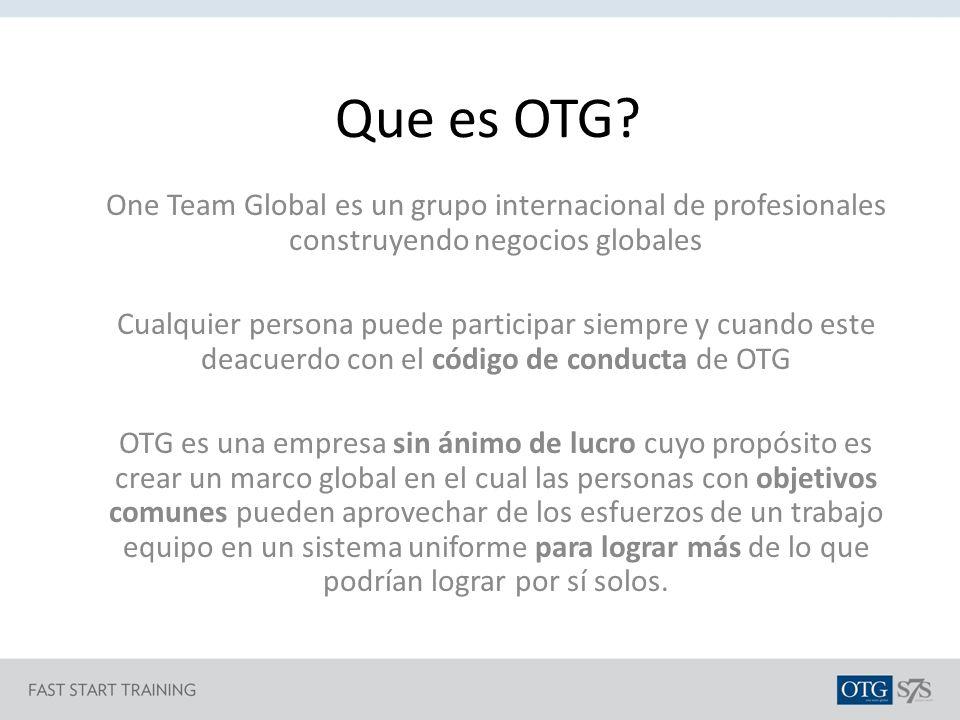 Que es OTG One Team Global es un grupo internacional de profesionales construyendo negocios globales.