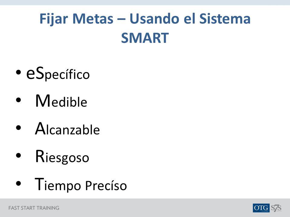 Fijar Metas – Usando el Sistema SMART
