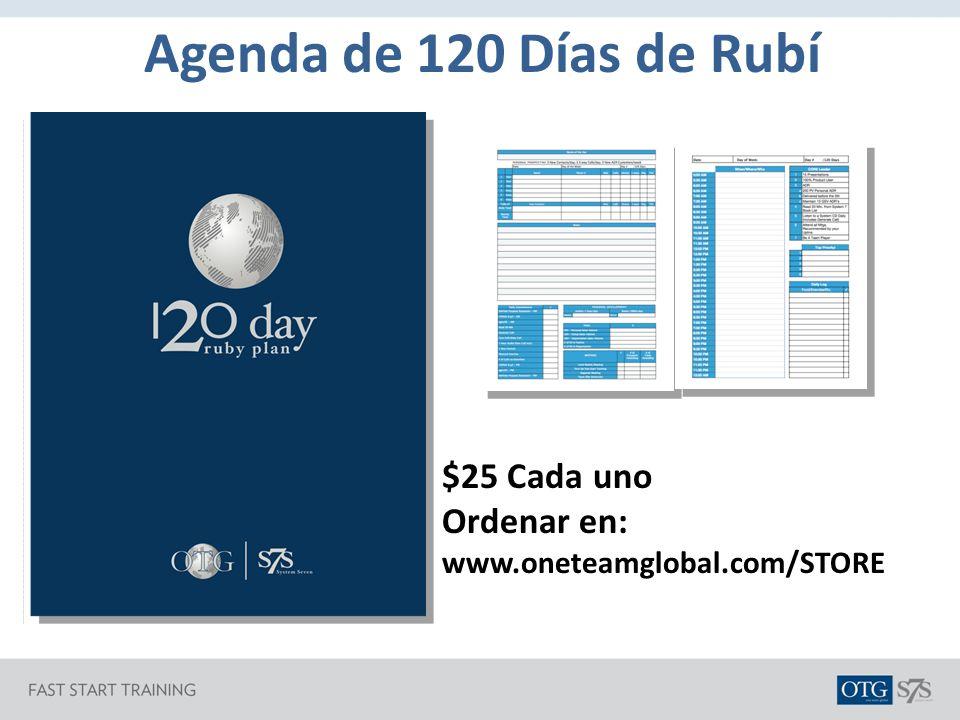 Agenda de 120 Días de Rubí $25 Cada uno