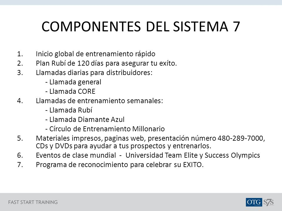 COMPONENTES DEL SISTEMA 7