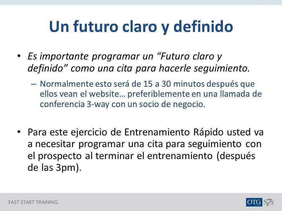 Un futuro claro y definido