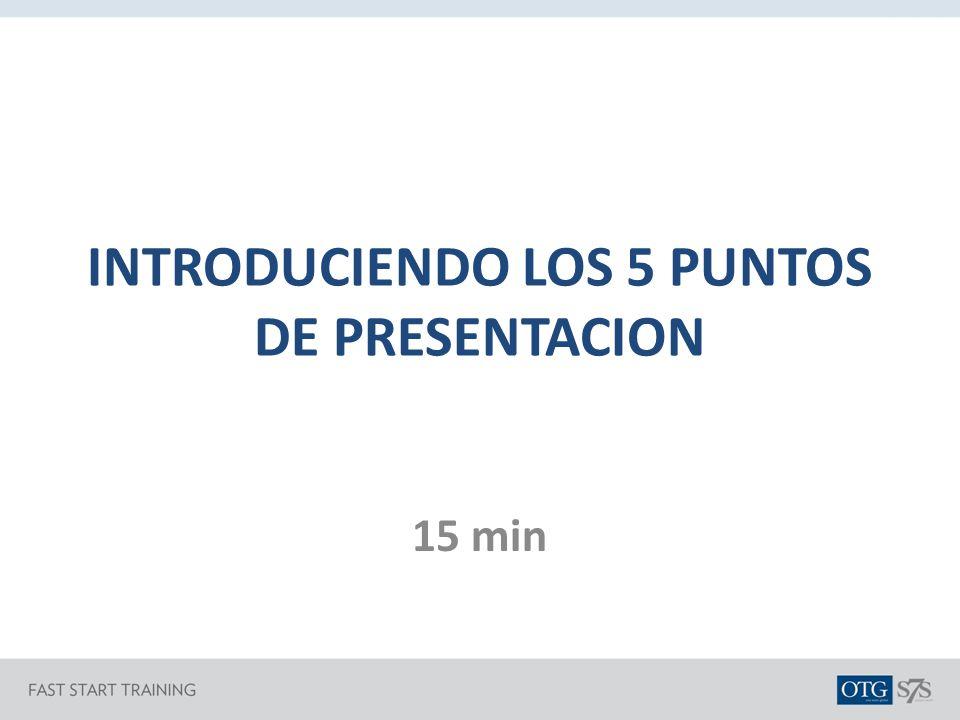 INTRODUCIENDO LOS 5 PUNTOS DE PRESENTACION