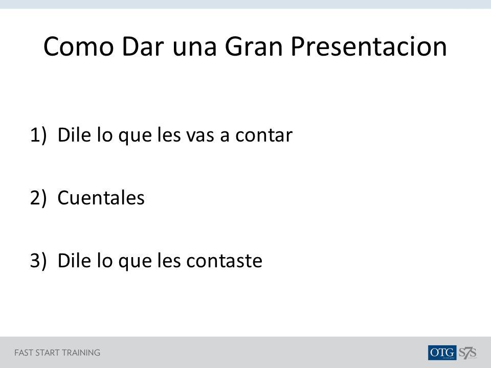 Como Dar una Gran Presentacion