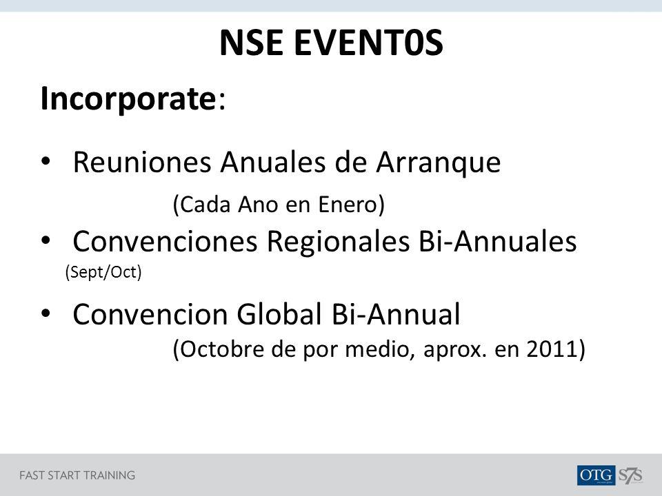 NSE EVENT0S Incorporate: Reuniones Anuales de Arranque