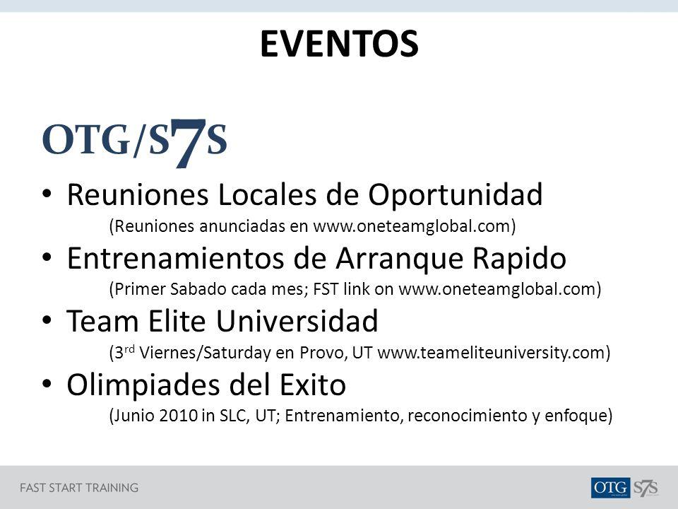 EVENTOS OTG/S7S Reuniones Locales de Oportunidad
