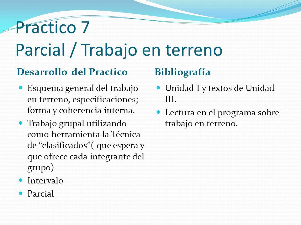 Practico 7 Parcial / Trabajo en terreno