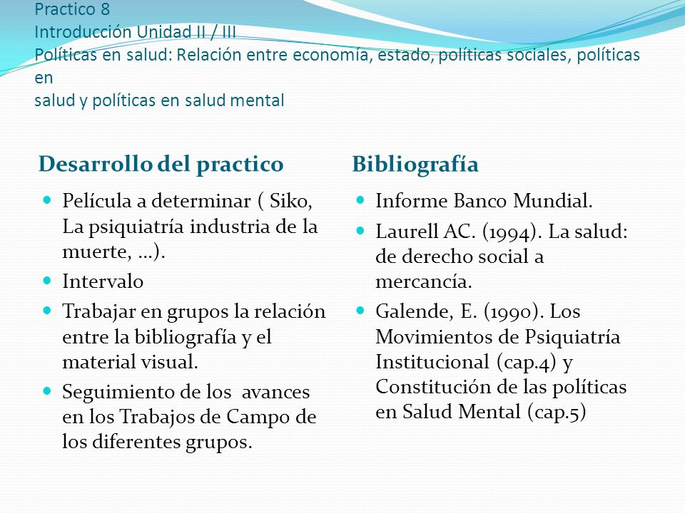 Desarrollo del practico Bibliografía