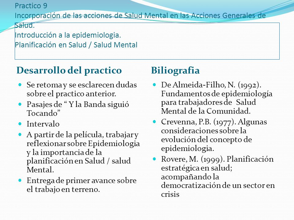 Desarrollo del practico Biliografia