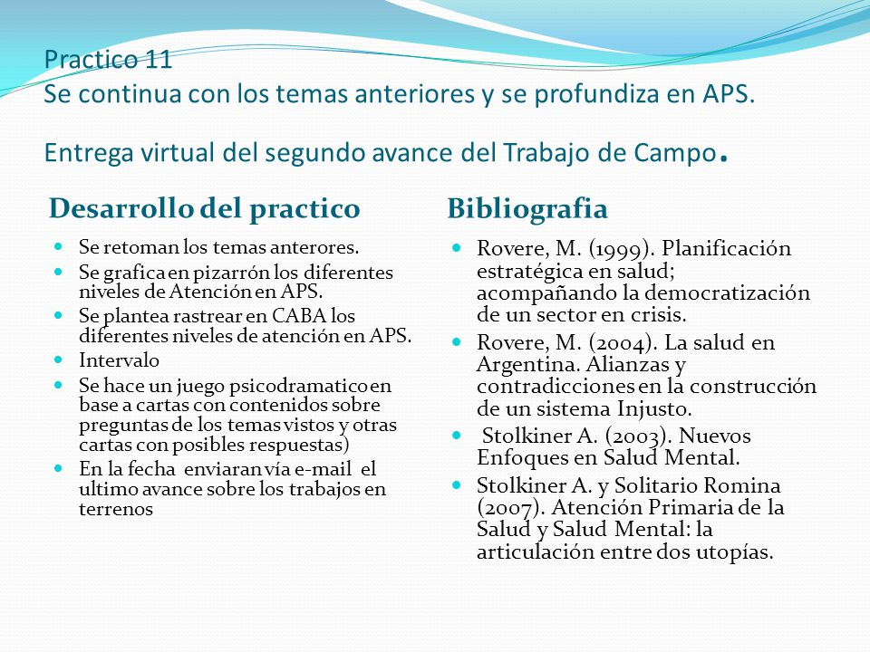 Desarrollo del practico Bibliografia