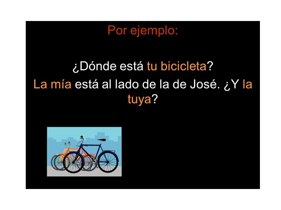 ¿Dónde está tu bicicleta
