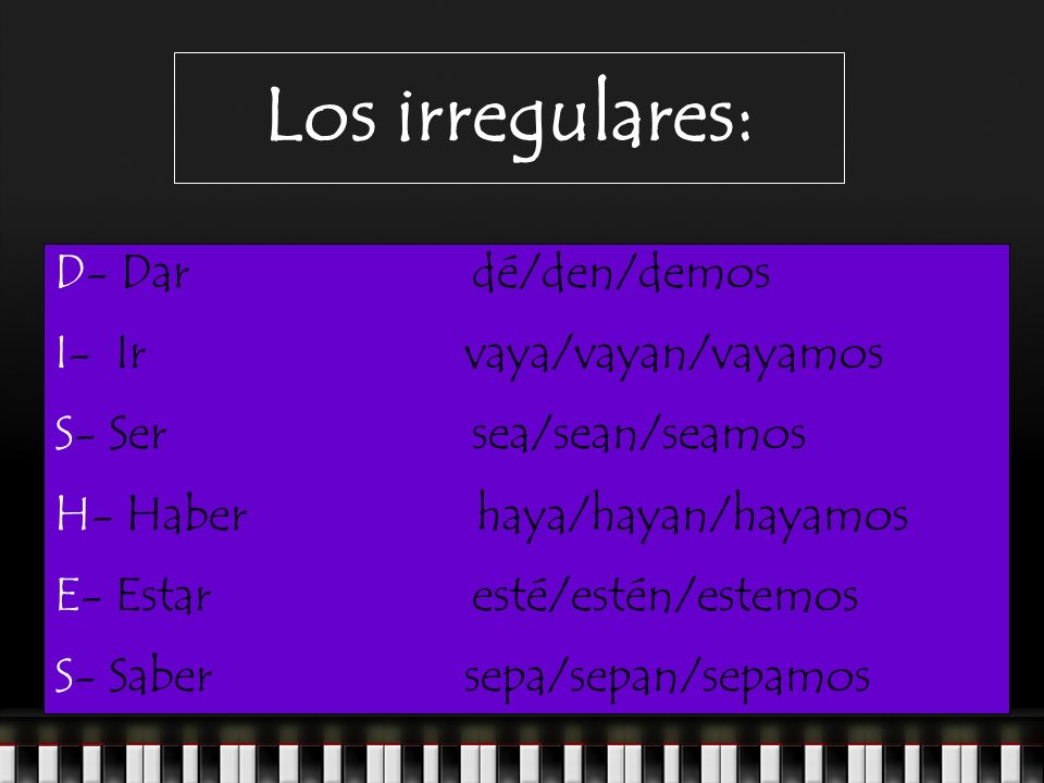 Los irregulares: