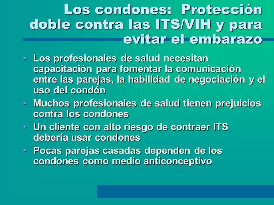 Los condones: Protección doble contra las ITS/VIH y para evitar el embarazo