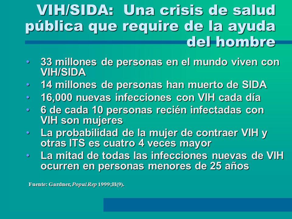 VIH/SIDA: Una crisis de salud pública que require de la ayuda del hombre