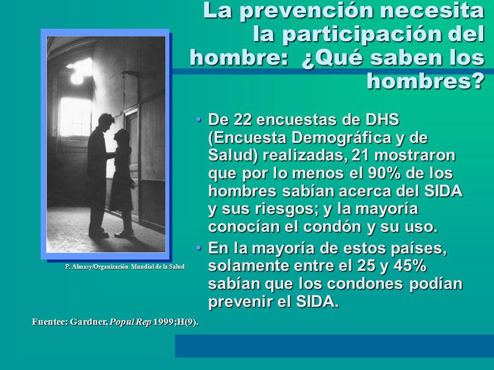 La prevención necesita la participación del hombre: ¿Qué saben los hombres