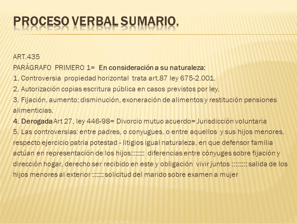 PROCESO VERBAL SUMARIO.