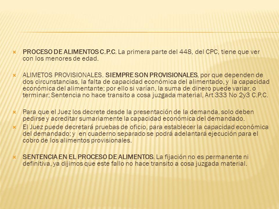 PROCESO DE ALIMENTOS C. P. C