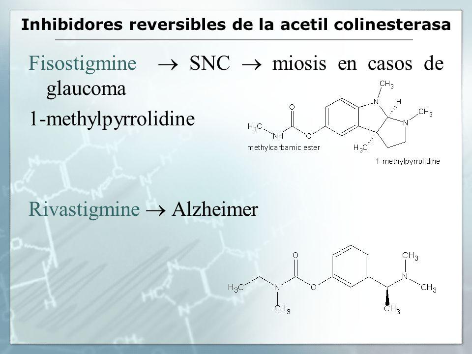Inhibidores reversibles de la acetil colinesterasa