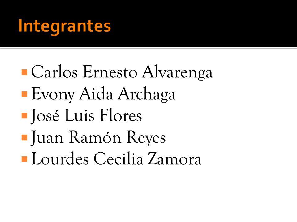 Integrantes Carlos Ernesto Alvarenga Evony Aida Archaga