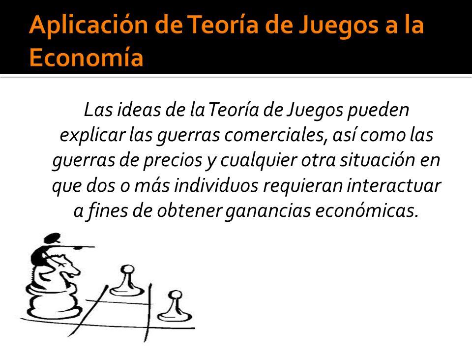 Aplicación de Teoría de Juegos a la Economía