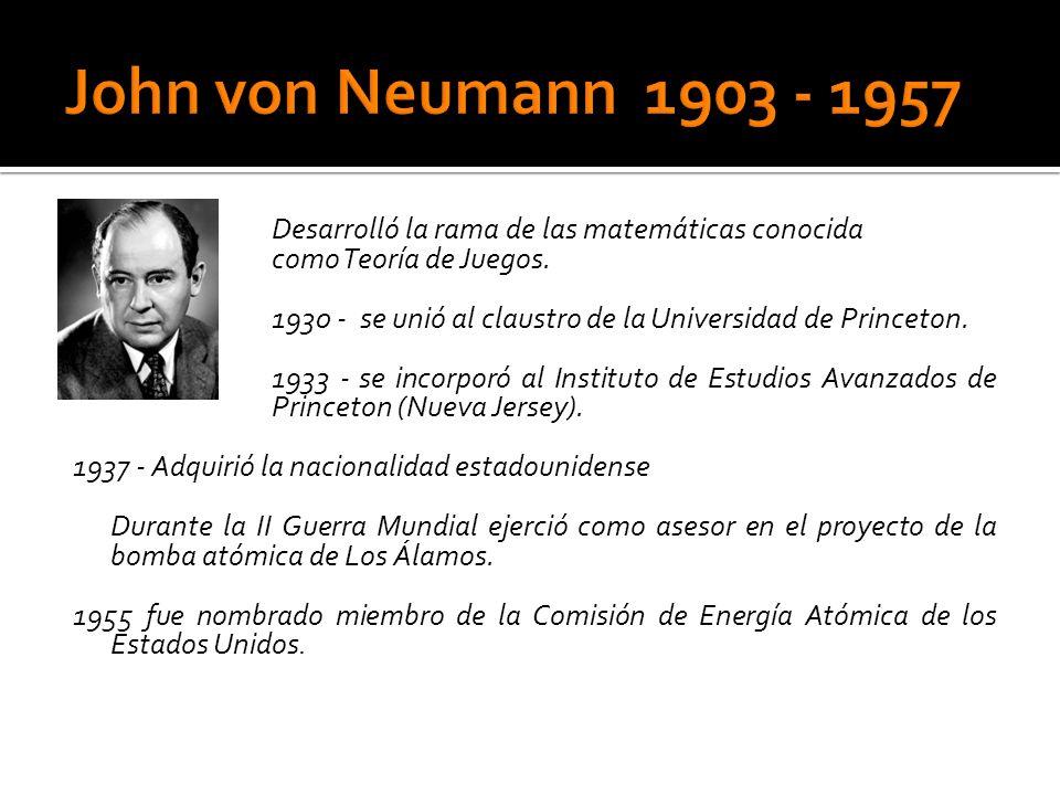 John von Neumann 1903 - 1957