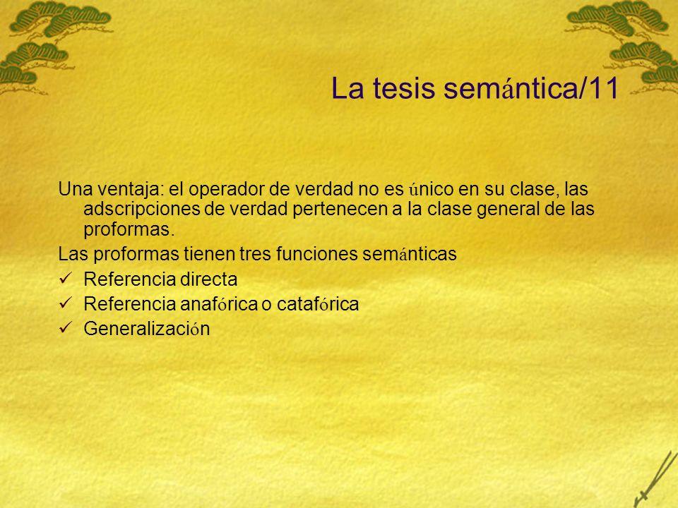 La tesis semántica/11