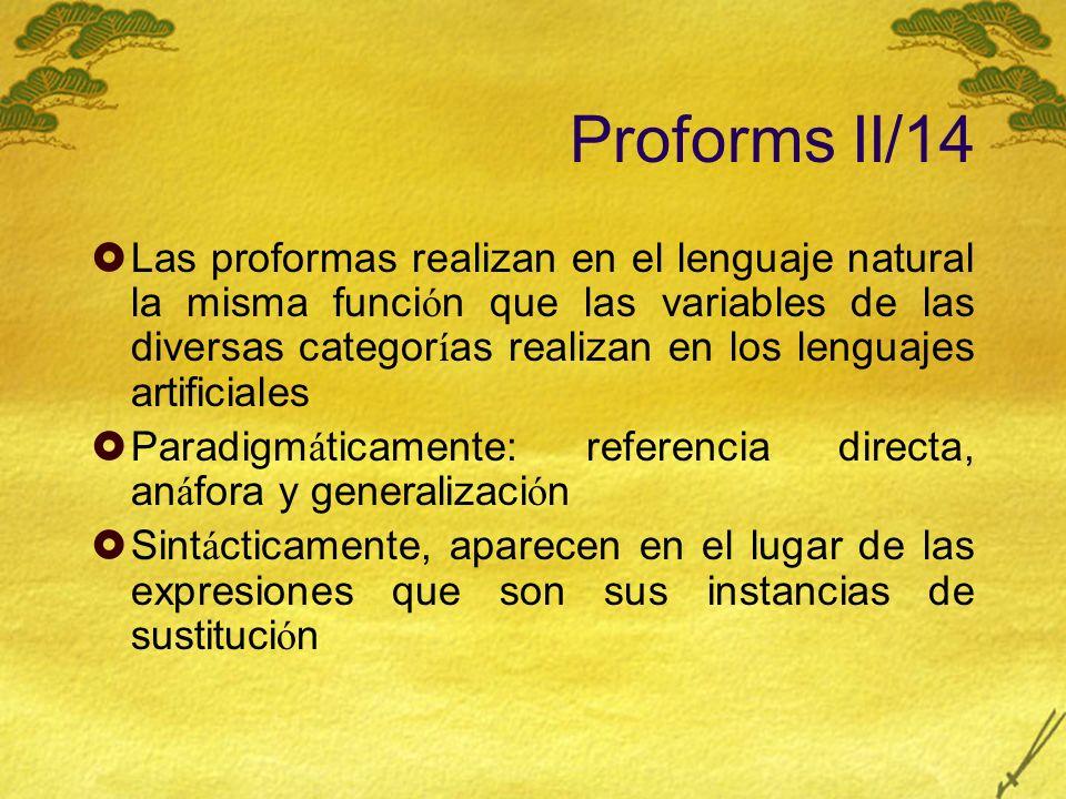 Proforms II/14