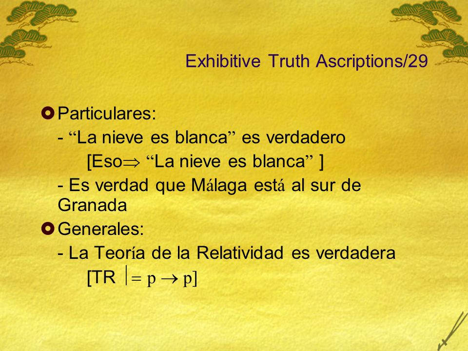 Exhibitive Truth Ascriptions/29