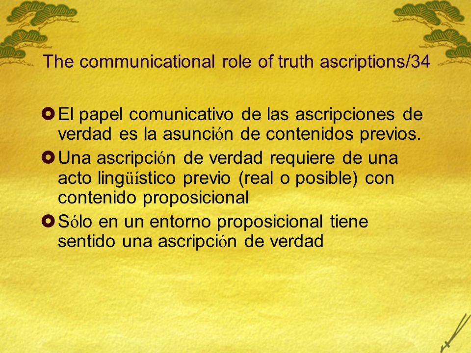 The communicational role of truth ascriptions/34