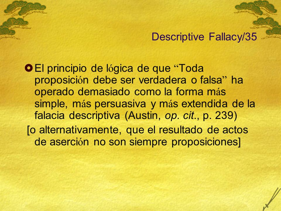 Descriptive Fallacy/35