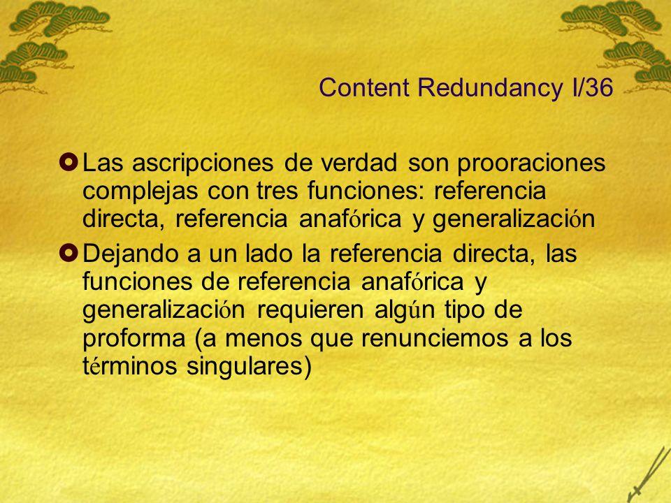 Content Redundancy I/36