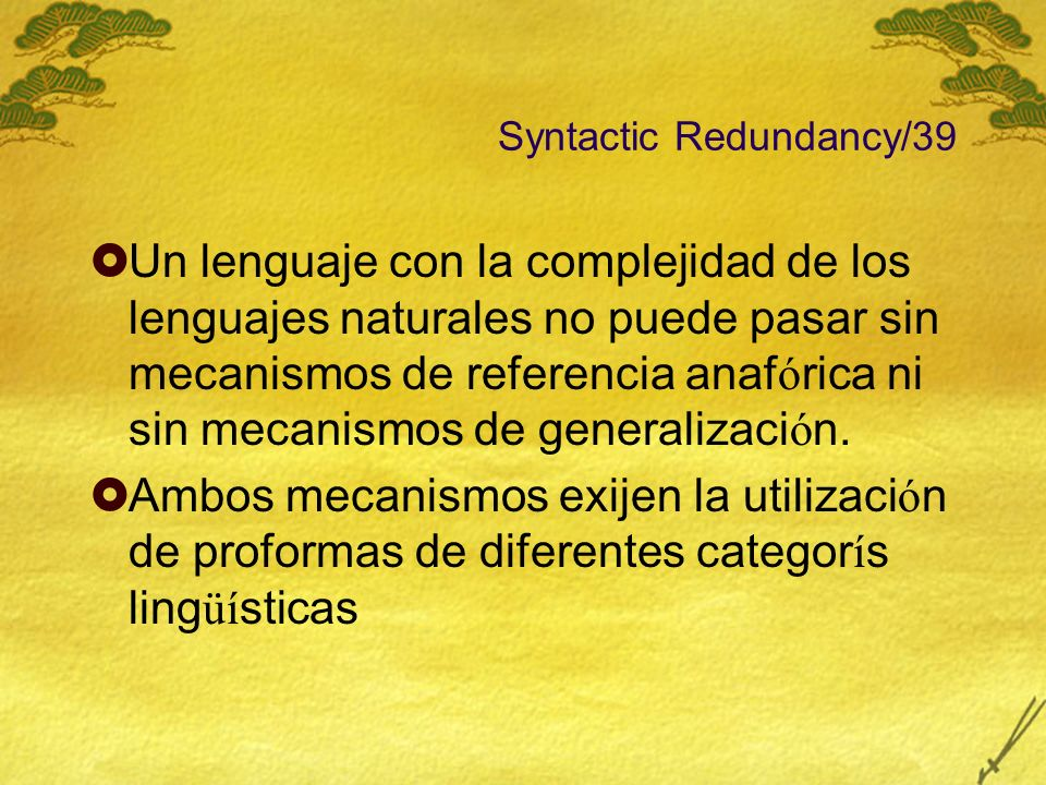 Syntactic Redundancy/39