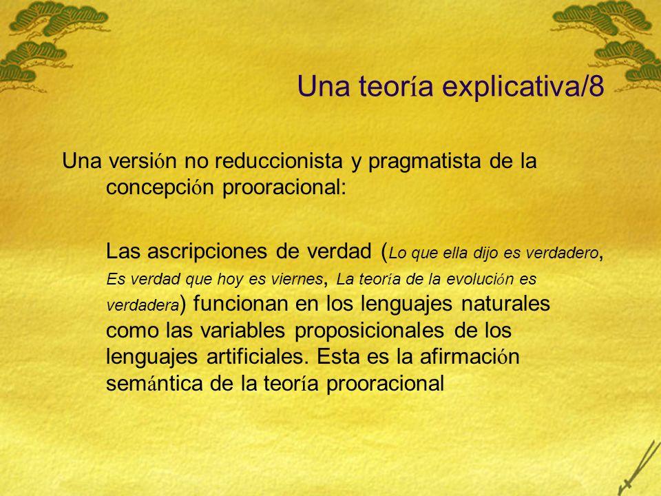 Una teoría explicativa/8