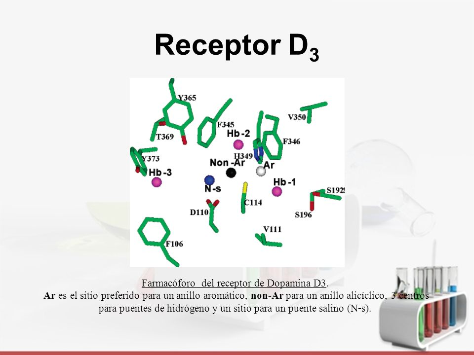 Farmacóforo del receptor de Dopamina D3.
