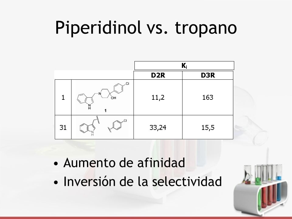 Piperidinol vs. tropano