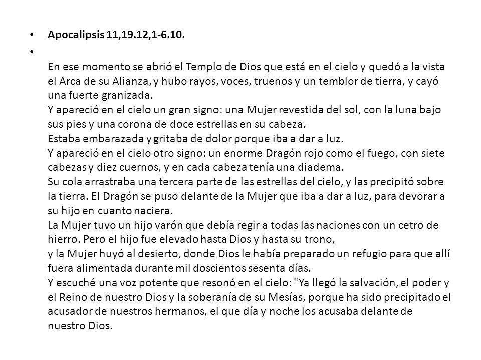 Apocalipsis 11,19.12,1-6.10.