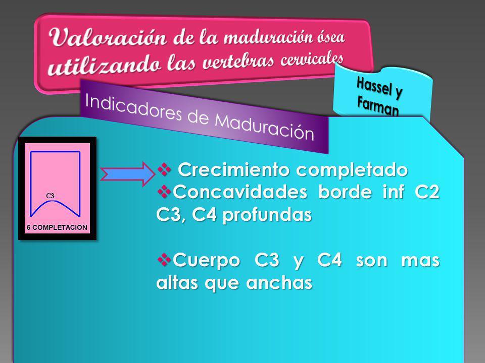 Valoración de la maduración ósea utilizando las vertebras cervicales