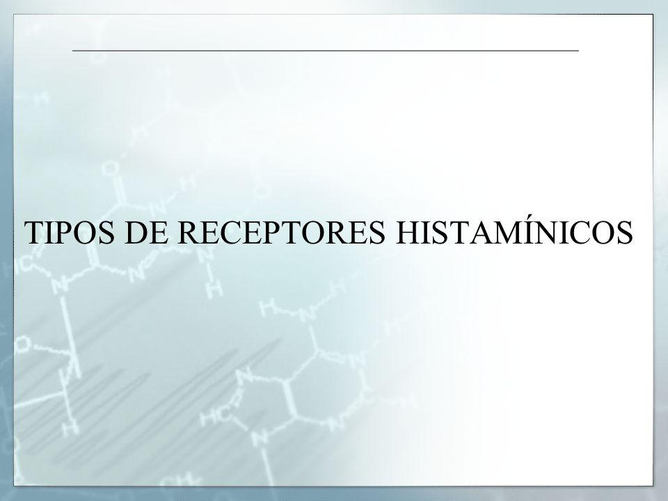 TIPOS DE RECEPTORES HISTAMÍNICOS