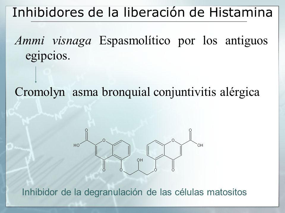Inhibidores de la liberación de Histamina