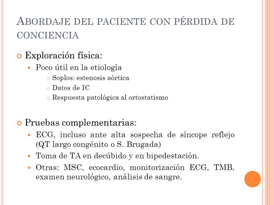 Abordaje del paciente con pérdida de conciencia
