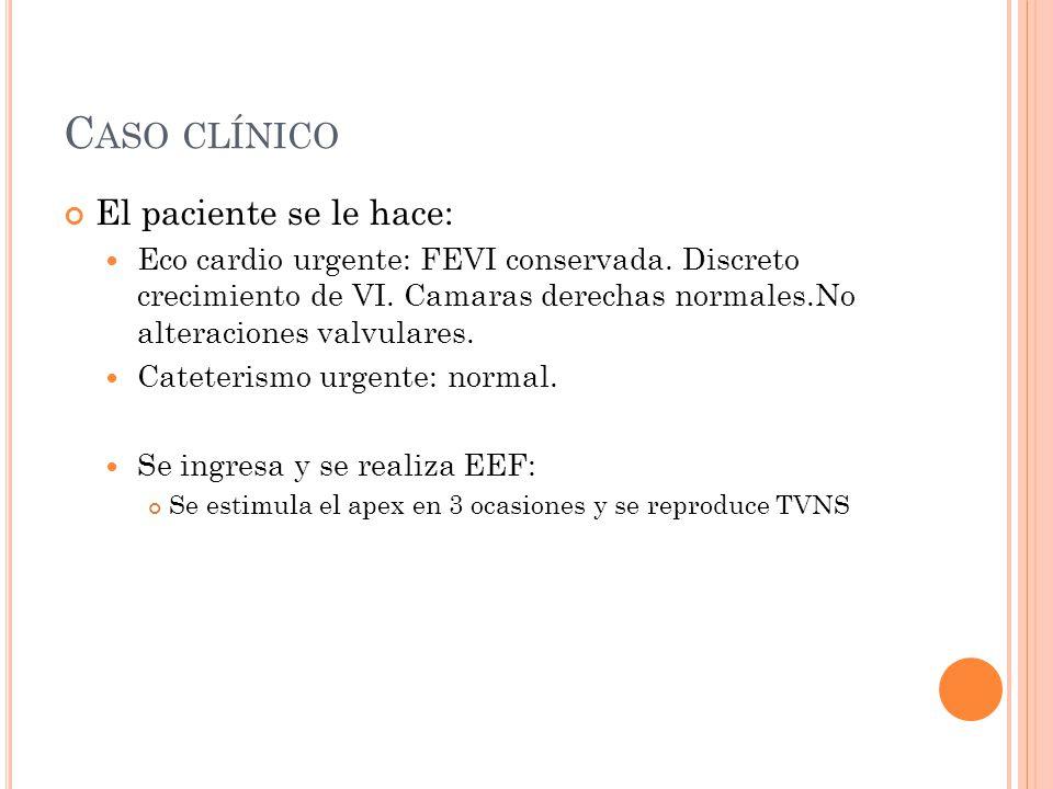 Caso clínico El paciente se le hace:
