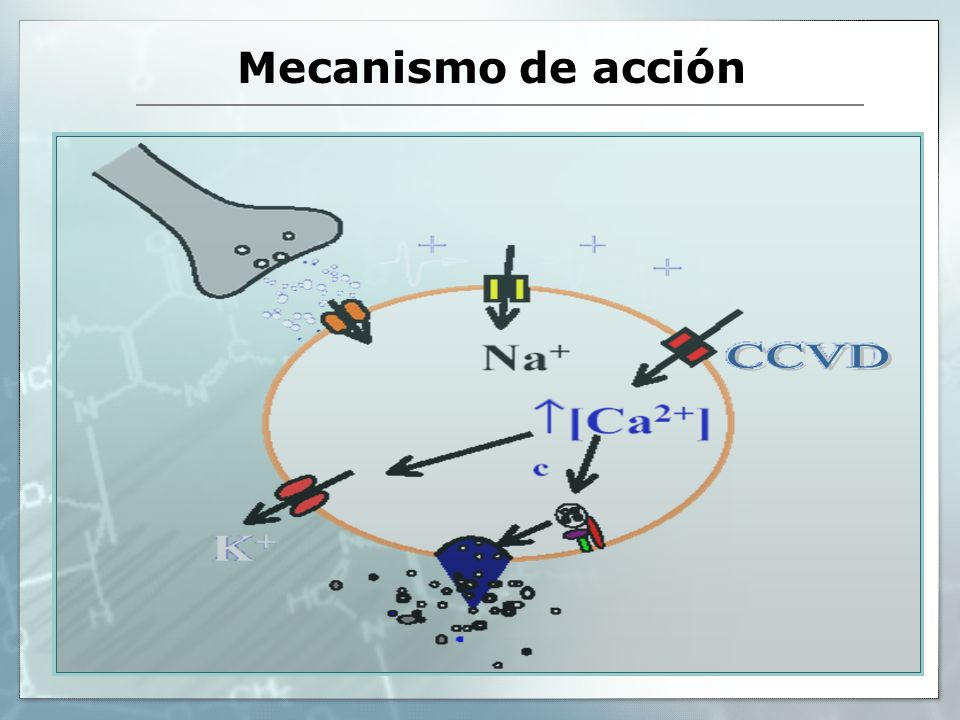 Mecanismo de acción CCVD