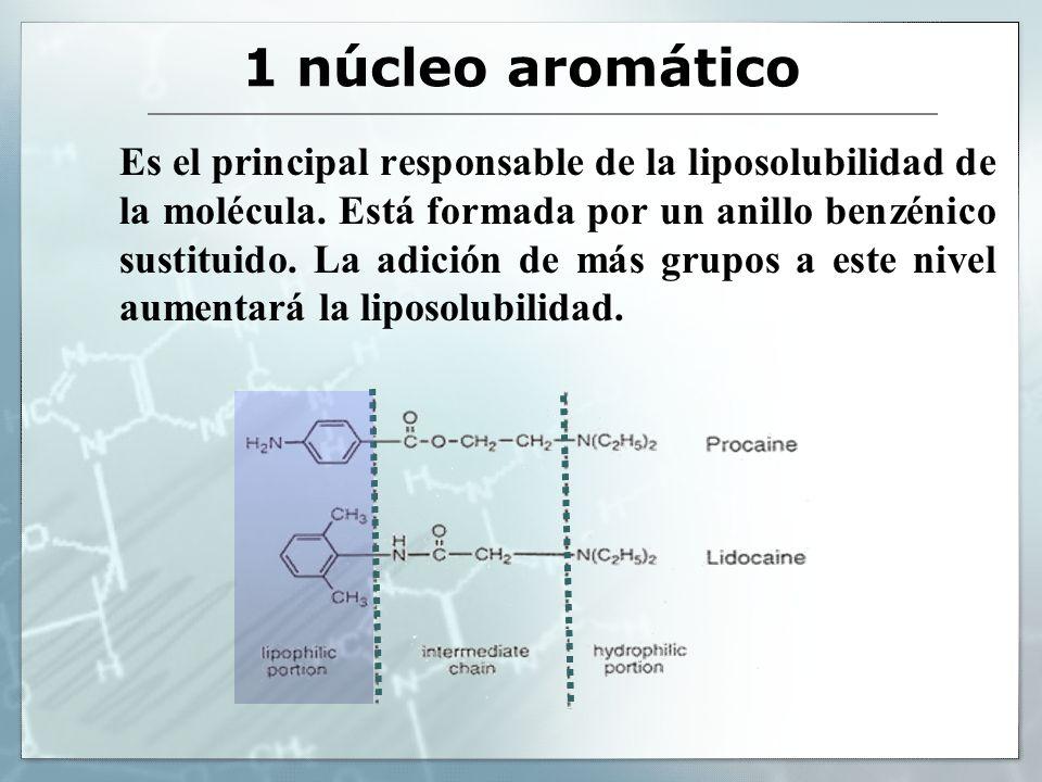 1 núcleo aromático