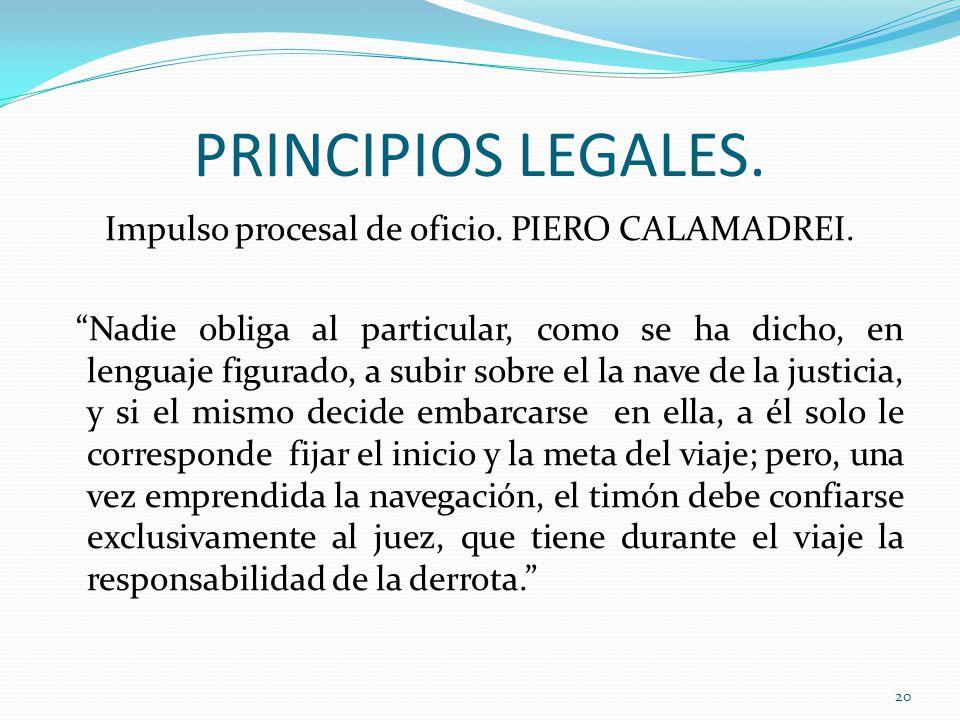 PRINCIPIOS LEGALES.