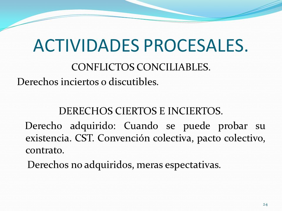 ACTIVIDADES PROCESALES.