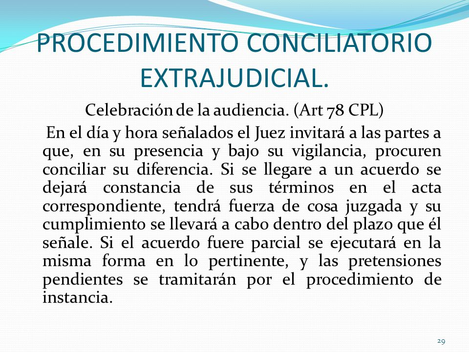 PROCEDIMIENTO CONCILIATORIO EXTRAJUDICIAL.