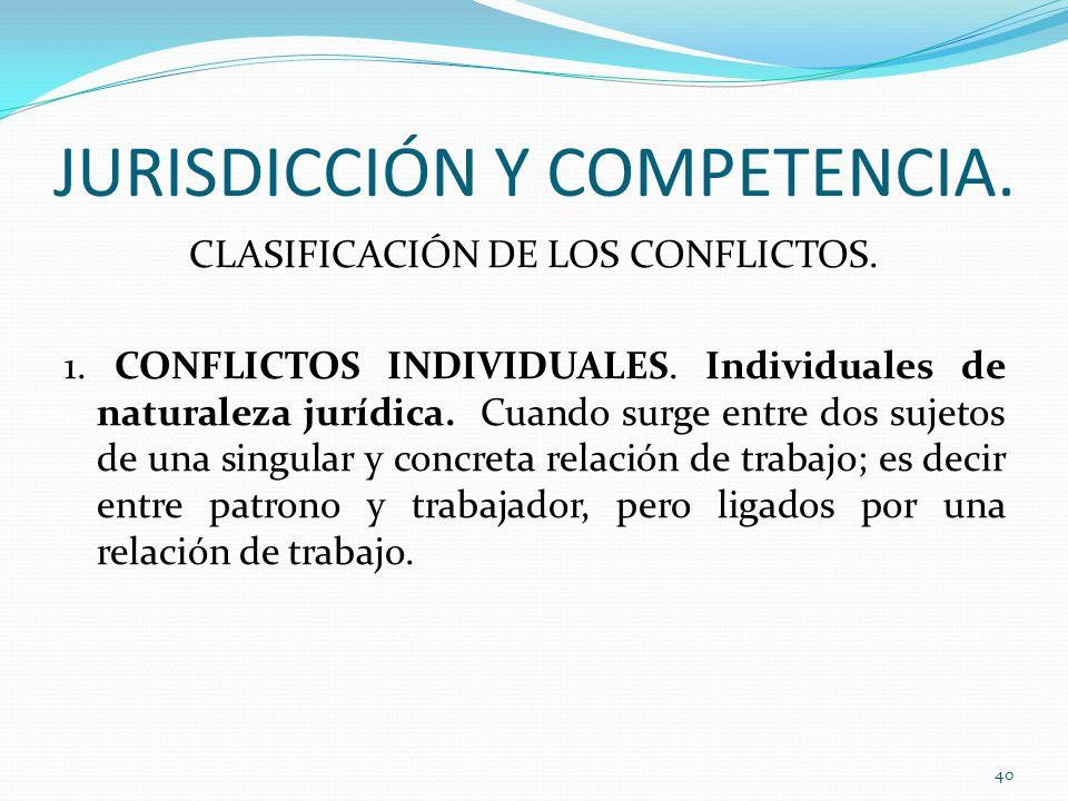 JURISDICCIÓN Y COMPETENCIA.
